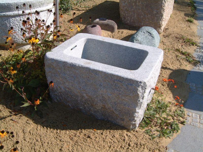 Brunnen-spaltrauh, eckig 80x60 h50