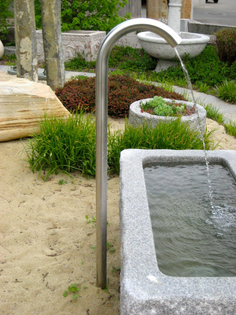 Wasserzulauf Edelstahl