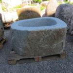Brunnen aus Granitfindling 105x80h58cm BWk030 (2)
